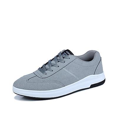 男性用 靴 PUレザー 春 秋 前かがみのブーツ コンフォートシューズ スニーカー ホワイト ブラック グレー レッド