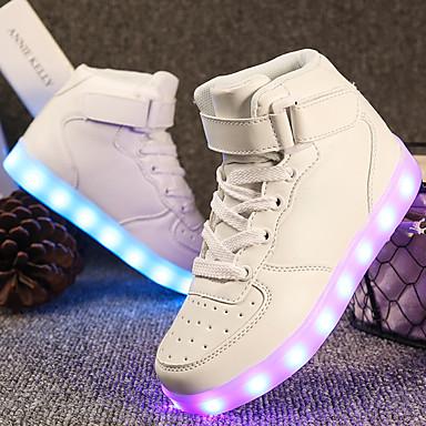 povoljno Dječje cipele & Dječje torbe-Dječaci / Djevojčice Umjetna koža Sneakers Mala djeca (4-7s) / Velika djeca (7 godina +) Udobne cipele / Svjetleće tenisice Hodanje Vezanje / Kopčanje na kukicu / LED Crvena / Plava / Pink Proljeće