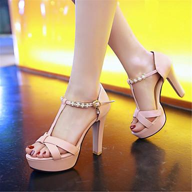 Blanc Talon Similicuir Matières Noir Bottier Confort ouvert Bout Nouveauté 06571151 Femme Personnalisées Eté Sandales Rose Chaussures x7nqw8g