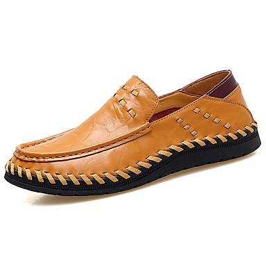 homme chaussures de conduite cuir nappa cuir printemps automne confort mocassins et. Black Bedroom Furniture Sets. Home Design Ideas