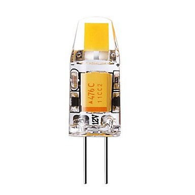 SENCART 1 buc 2W 240-280lm G4 Becuri LED Bi-pin T 1 LED-uri de margele COB Decorativ Alb Cald / Alb Rece 12V