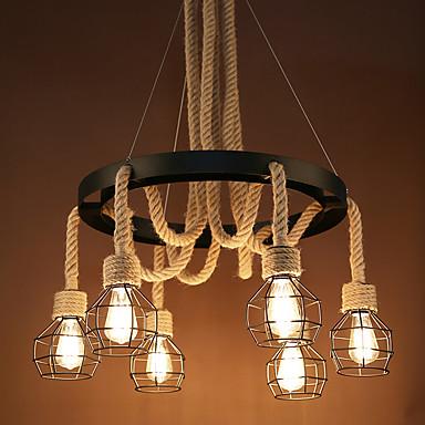 6 świateł Grupa Lampy widzące Downlight Malowane wykończenia Metal Styl MIni 110-120V / 220-240V Nie zawiera żarówek / FCC / E26 / E27