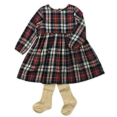 תִינוֹק סט של בגדים כותנה אביב סתיו שרוול ארוך יומי פסים בנות פשוט סגנון סיני בז'