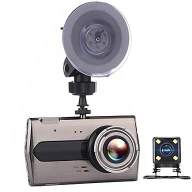 tanie Samochód Elektronika-T667 720p / 1080P / 640x480 Podwójne obiektywy Rejestrator samochodowy Szeroki kąt 4 in Dash Cam z Czujnik przyspieszenia Rejestrator samochodowy