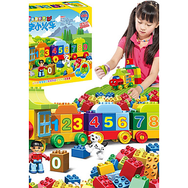 Klocki 50 pcs Interakcja rodziców i dzieci Pociąg Dla chłopców Dla dziewczynek Zabawki Prezent