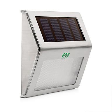 billige Utendørsbelysning-ywxlight® 2w rustfritt stål sollys vanntett utendørs solkraft hage lys energisparende gårdsplassen vei vegglampe