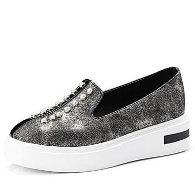Automne Chaussons Polyuréthane Chaussures D6148 Printemps Confort Rose Mocassins Femme Noir 06626760 Creepers et 0Ctx5wC