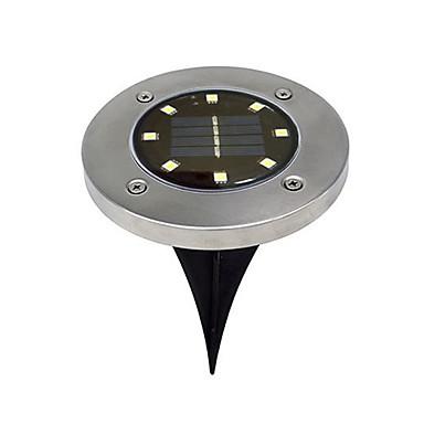 BRELONG® 1 szt. 5 W Światła do trawy Wodoodporny / Na energię słoneczną / Kontrola światła Ciepła biel / Biały 1.5 V Oświetlenie zwenętrzne 8 Koraliki LED