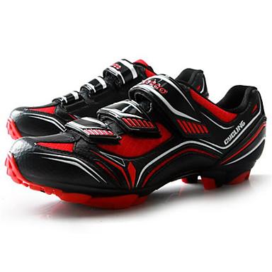 Tiebao® Buty na rower górski Włókno węglowe Antypoślizgowy, Zdatny do noszenia, Oddychalność Kolarstwo Czarny czerwony Męskie / Haczyk