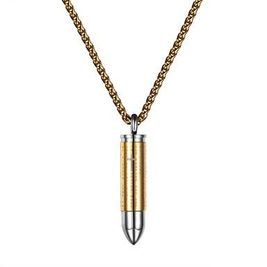 voordelige Herensieraden-Heren Dames Hangertjes ketting Modieus Roestvast staal Goud Zwart Zilver 55 cm Kettingen Sieraden Voor Dagelijks