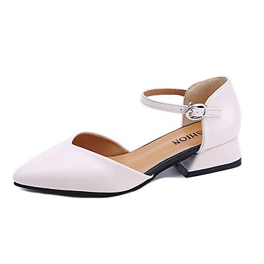 Mujer Zapatos PU Verano Confort Tacones Tacón Stiletto Dedo Puntiagudo Negro / Marrón UkyvZIuc