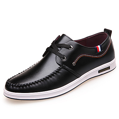 Hombre Zapatos Cuero Sintético Primavera / Otoño Confort Zapatillas de deporte Negro / Amarillo / Rojo yroCIH