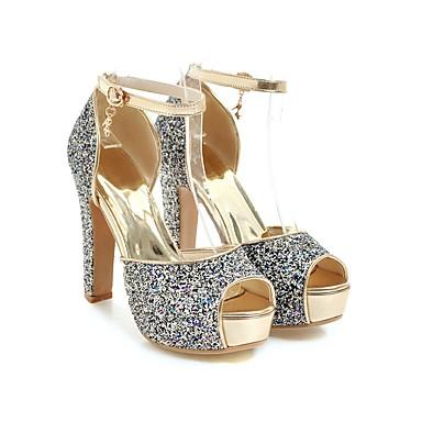 Escarpin Argent Bleu Printemps Chaussures 06648623 Femme Talon Eté Sandales Boucle Aiguille Rose Bout Basique ouvert Paillettes wU4I7H