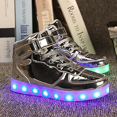 Plat Magique Noir Printemps Lacet Scotch Lumineuses Rouge Automne 04985028 Bleu Talon Femme Chaussures Cuir Chaussures Confort qU8A8w