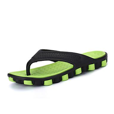 Męskie Komfortowe buty Syntetyczny Lato Klapki i japonki Szary / Czerwony / Zielony