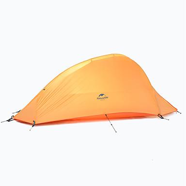 Naturehike 1 אדם אוהלים לטיפוס הרים שכבה כפולה עמוד קמפינג אוהל חיצוני מוגן מגשם, ייבוש מהיר, עמיד ל מחנאות וטיולים 2000-3000 mm בד אוקספורד, ניילון 230*110*100 cm