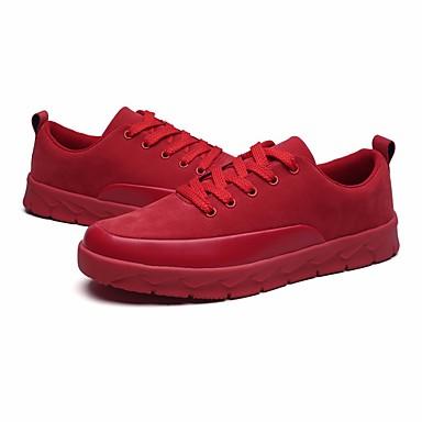 Męskie Komfortowe buty Tiul Wiosna / Jesień Adidasy Czarny / Szary / Czerwony