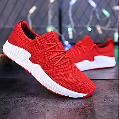 Hombre Zapatos Red / Tul Verano Confort / Suelas con luz Zapatillas de deporte Negro / Gris / Negro / blanco 07eIn5Sq