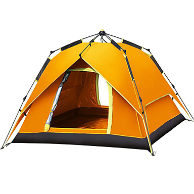 Outdoor Camping Gear 70*210cm Polyester Travel Sleeping Bag+automatic Instant Pop Up Hiking Tent 240 *180*100cm For 3-4 Persons Moderate Price Camp Sleeping Gear