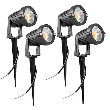 abordables Éclairage Extérieur-ZDM® 4pcs 7 W Lumières de pelouse Imperméable Blanc Chaud / Blanc Froid / Blanc Naturel 12 V / 24 V Eclairage Extérieur 1 Perles LED