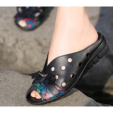 Plat Rouge Tongs Talon amp; Cuir 06649677 Confort Noir Femme Eté Chaussures Chaussons gxqT8WvBw