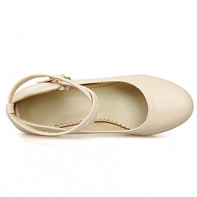 à Rose Chaussures 06641910 Beige Boucle Nouveauté Bottier Chaussures Automne Noir Talon rond Femme Bout Talons Printemps Similicuir Confort 4adTwa0Bq