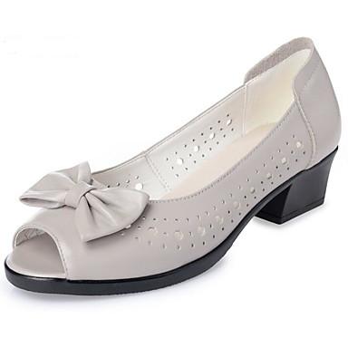 Talon Automne à Femme Talons Chaussures Cuir 06647264 Nappa Chaussures Cuir Printemps clair Noir Bottier Confort Gris wXvqXaC8