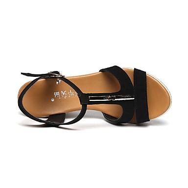 Sandales Hauteur Arrière semelle Vert Eté compensés Chaussures Strass compensée Bride Noir 06647367 Orange foncé Femme Bout de Flocage Talons ouvert A zqwBgg0Y