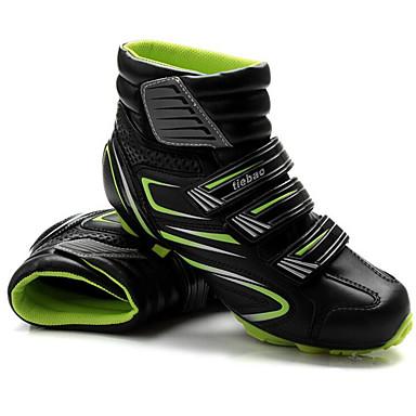 رخيصةأون أحذية ركوب الدراجة-Tiebao® Mountain Bike Shoes ألياف الكربون مكافح الانزلاق ركوب الدراجة أسود / أحمر أسود / أخضر رجالي أحذية الدراجة / شبكة قابلة للتنفس / هوك وحلقة