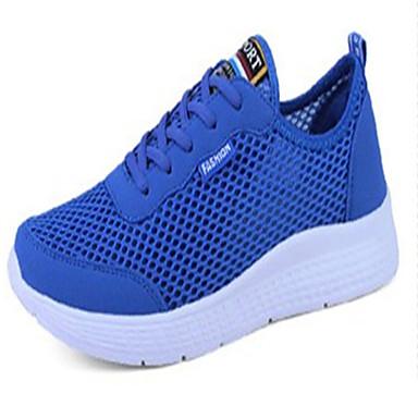 Homens sapatos Borracha Primavera Outono Conforto Tênis Cadarço para Ao ar livre Preto Cinzento Claro Azul Real
