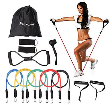 KYLINSPORT Sett til resistansetrening Med Bæreveske / Ankel Stropp / Døranker 12 pcs Gummi Styrketrening, Fysioterapi Til Yoga & Danse Sko / Pilates / Trening & Fitness Hjem / Kontor