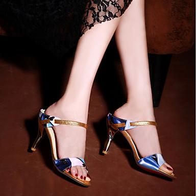 Aiguille D'Orsay Deux Talon Bride 06648289 Sandales A Similicuir Rouge Eté Arrière amp; Bleu Bout Femme Jaune ouvert Pièces Chaussures P8qHYwH7