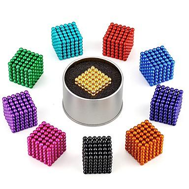 216 pcs 5mm Jouets Aimantés Boules Magnétiques Blocs de Construction Aimants Magnétiques Super Forts Aimant Néodyme Magnétique Soulagement de stress et l'anxiété Jouets de bureau Soulage ADD, TDAH
