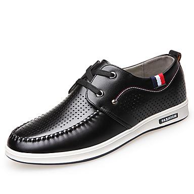Muškarci Cipele Umjetna koža Proljeće Jesen svečane cipele Udobne cipele Oksfordice Hodanje za Kauzalni Ured i karijera Crn Bijela