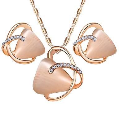 levne Dámské šperky-Dámské Syntetický opál Šperky Set Opál dámy, Jednoduchý, Sladký Zahrnout Zlatá Pro Párty Denní / Küpeler