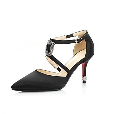 Polyuréthane Confort 06628584 Femme Strass Chaussures Bout Aiguille Talon Talons Eté Gris Bleu Chaussures à pointu Printemps Noir q55Iwra