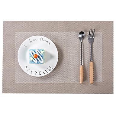 Współczesny Plastikowy Kwadrat Podkładki Prążki Dekoracje stołowe 1 pcs