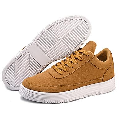 Heren Schoenen Tule Lente Zomer Herfst Comfortabel Platte schoenen Veters voor Causaal Bruin Zwart Grijs