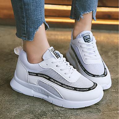 Chaussures Confort à Plat rond Bout Tulle d'Athlétisme Printemps Talon Course Polyuréthane 06633222 Femme Marche Chaussures Eté Pied Noir nSCqAYw
