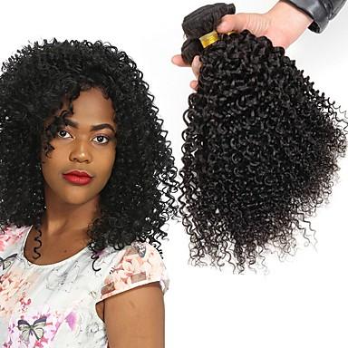 3 paketa Peruanska kosa Kinky Curly Ljudska kosa Netretirana  ljudske kose Headpiece Ljudske kose plete Styling kose 8-28 inch Prirodna boja Isprepliće ljudske kose novorođenče Stres i anksioznost