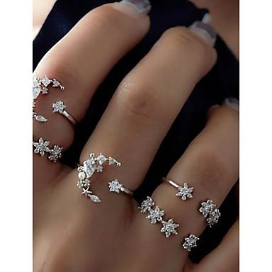 billige Motering-Dame Ring Set / Midiringe / Stable Ringer 5pcs Sølv Legering Sirkelformet damer / Uvanlig / Unikt design Daglig / Stevnemøte Kostyme smykker