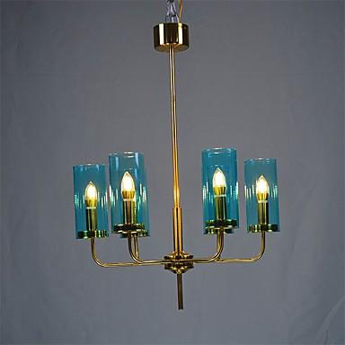 QIHengZhaoMing 6 świateł Świeca Żyrandol Światło rozproszone 110-120V / 220-240V, Ciepły biały, Żarówka w zestawie / 15-20 ㎡
