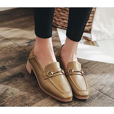 Femme 06627179 Chaussures Polyuréthane Mocassins Talon Beige et Automne Confort Bottier Printemps D6148 Chaussons Noir rrOFdqw