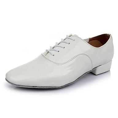 Męskie Buty do latino Skóra patentowa Adidasy Płaski obcas Personlaizowane Buty do tańca Biały / Domowy