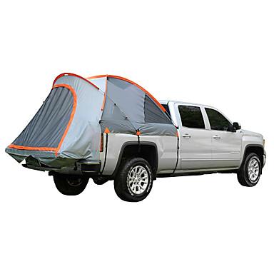 رخيصةأون مفارش و خيم و كانوبي-2 الأشخاص خيمة شاحنات في الهواء الطلق ضد الهواء مكتشف الأمطار طبقات مزدوجة قطب الماسورة القبة خيمة التخييم 1500-2000 mm إلى صيد السمك Camping / Hiking / Caving السفر PE أكسفورد 315*180*170 cm