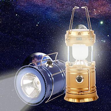 abordables Lampes & Lanternes de Camping-Lanternes & Lampes de tente LED LED Émetteurs 1 Mode d'Eclairage avec Câble USB Portable Pliable Camping / Randonnée / Spéléologie Pêche Dorée Noir Bleu