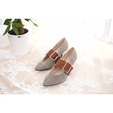 Printemps Chaussures Vert foncé Automne Talon 06637236 Bottier Chaussures Talons à Brun Confort claire Femme Basique Similicuir Escarpin AEg6xndwn