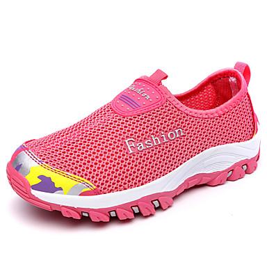 Mujer Zapatos PU Primavera / Otoño Zapatillas de Atletismo Senderismo Tacón Plano Azul Oscuro / Morado / Rosa Rojo