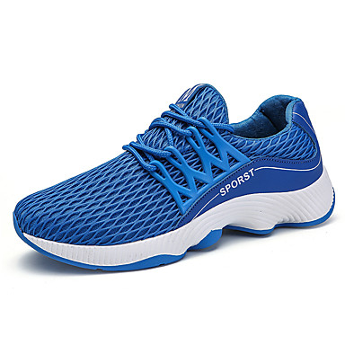 Hombre PU Otoño / Invierno Confort Zapatillas de Atletismo Running Blanco / Negro / Azul