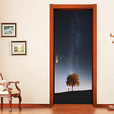 Naklejki na drzwi - Naklejki ścienne 3D Kwiatowy / Roślinny / 3D Salon / Sypialnia / Łazienka